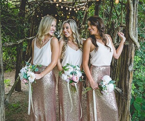 bridesmaids and dresses image