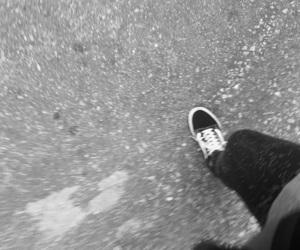 blackandwhite, kicks, and old skool image