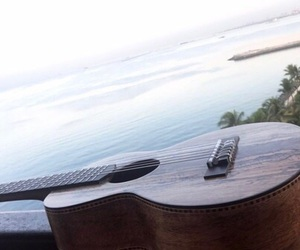 shawn mendes, beach, and guitar image