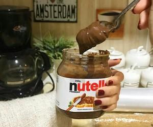 chocolate, nutella, and أكل image
