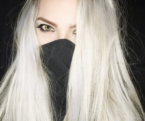 black, eyebrows, and eyeliner image
