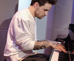 liam payne, one direction, and piano image