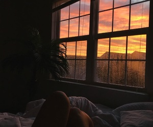 sunset and window image