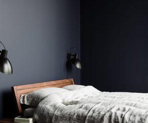 bedroom, dark, and decoration image