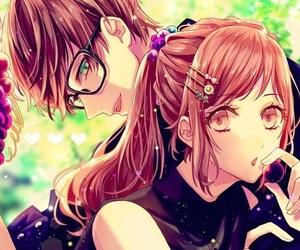 anime girl and anime boy image