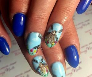 blue, tulips, and nails image