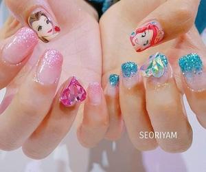 disney, korean, and nail image