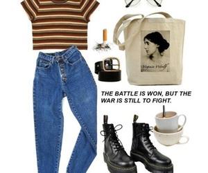 clothes, dr martens, and vintage image