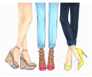 drawings, fashion, and fashion illustration image
