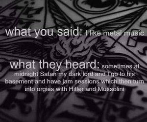 metal, music, and satan image
