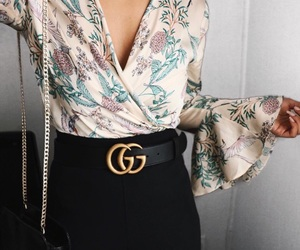 fashion, floral, and outfit image