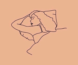 love, sleep, and drawing image