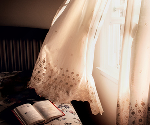 book, light, and window image