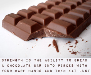 chocolate, strength, and moderation image