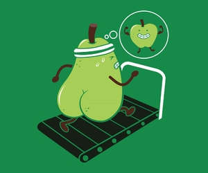 apple, funny, and fruit image