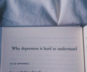 depression, quotes, and sad image