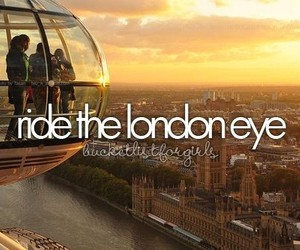 london, bucket list, and london eye image