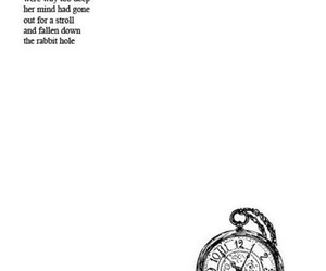 alice in wonderland, pocket watch, and book image