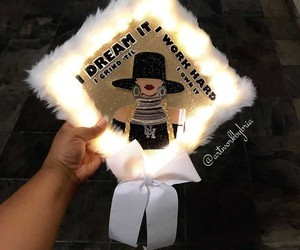 graduation cap, queen bey, and beyoncé image