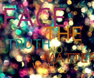 face, truth, and what image