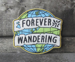 badge, earth, and embroidery image