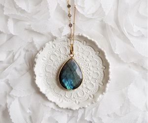gem necklace, stone necklace, and etsy image