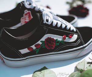 embroidery, style, and vans image