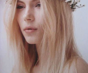 crown, flowers, and hair image