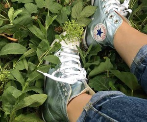 convers, green, and jeans image