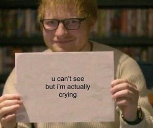 meme, crying, and ed sheeran image