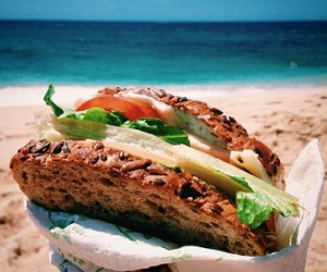 beach, natureza, and food image