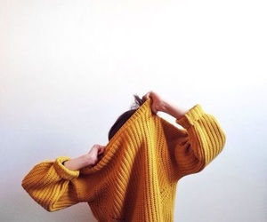 yellow, sweater, and aesthetic image
