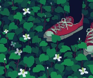 gif, pixel, and flowers image