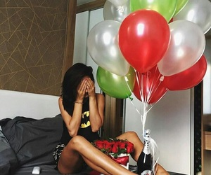 balloons, happy, and overwhelmed image