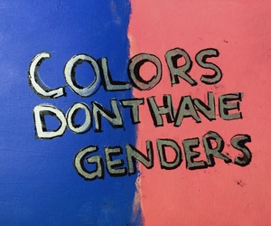 gender, equality, and colors image