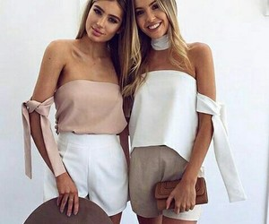 sister, summer style, and white image