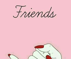 best friends, pink, and wallpaper image