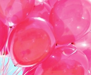 pink balloons and pink theme image