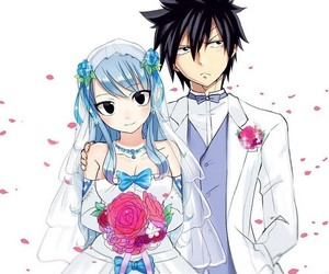 fairy tail, gruvia, and anime image
