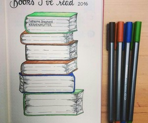 bullet journal, book, and journal image