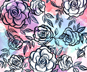 colorful, flowers, and flower pattern image