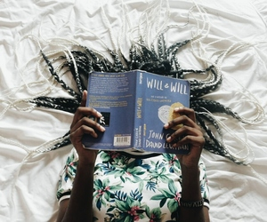 black, book, and girl image