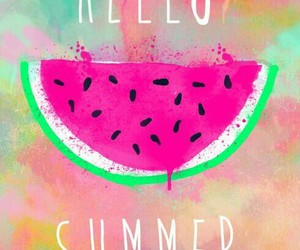 summer, wallpaper, and watermelon image