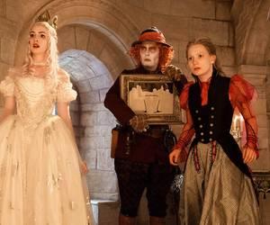alice in wonderland, mad hatter, and Mia Wasikowska image
