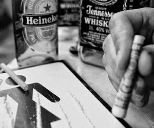 drugs, cocaine, and jack daniels image