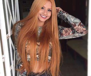 girl, hair, and cabelo grande image