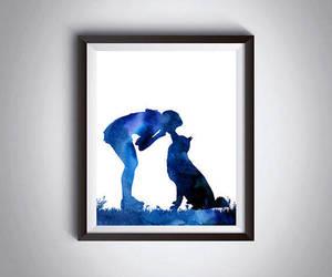etsy, dog art, and dog print image