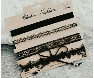 choker, fashion, and black image