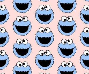 cookie monster and wallpaper image