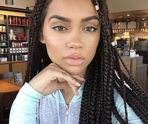 hair, beauty, and braids image